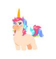 cute isolated unicorn cartoon little fairytale vector image