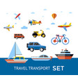 digital blue red travel transport vector image vector image