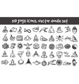 doodle yoga icons set vector image vector image