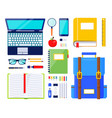 education elements school stationery vector image