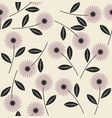 elegant seamless pattern with stylish flowers vector image