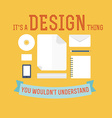 Element of design concept icon in flat design vector image vector image
