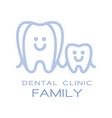 family dental clinic logo symbol vector image