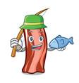 fishing ribs mascot cartoon style vector image vector image