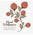 floral wallpapers design isolated vector image vector image