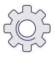gear mechanism processing or loading icon vector image