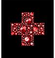 Gem Red Cross vector image vector image