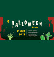halloween party banner template vector image