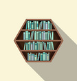 Hexagon Bookshelf On Wall vector image