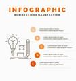 idea insight key lamp lightbulb infographics vector image