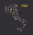 Italian Map vector image vector image