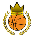 king basket symbol vector image vector image