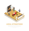 local attractions people travel composition vector image vector image