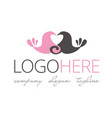 logotype about love and weddings vector image vector image