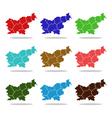 map slovenia vector image