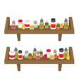 medicine bottles set in flat design vector image vector image