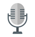 microphone flat icon studio and sound vector image vector image