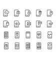 mobile application icon set vector image vector image