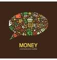 money communication bubble vector image