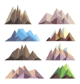 Mountains in polygon origami style elements vector image