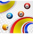 Multi coloured swirl and bingo balls vector image vector image