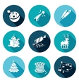 New Year Fireworks illumination garlands Icons vector image vector image