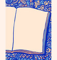 notebook and doodle background vector image vector image