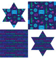 passover patterns and jewish stars vector image