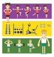 People involved in the gym vector image vector image