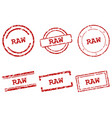 raw stamps vector image vector image