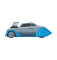 retro style race car old sports vehicle vector image vector image