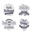 school-related set of black-and-white stickers vector image vector image
