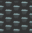 seamless cloud pattern with drops of rain vector image vector image