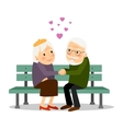 Senior Couple Love vector image