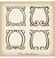 Set of calligraphic Vintage frame vector image vector image
