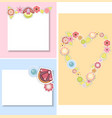set of templates for cardsweddingvalentines day vector image vector image