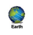 sketch the earth handwriting style vector image