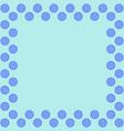 snowflake frame 2811 vector image vector image