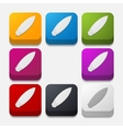 square button surfing vector image vector image