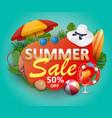 summer sale banner design for promotion vector image vector image