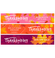 thanksgiving autumn sale poster fall discount vector image vector image