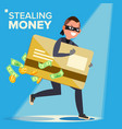 thief character hacker stealing sensitive vector image vector image