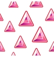 Triangle diamond background vector image