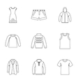 Underwear icons set outline style vector image vector image