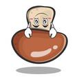 upside down mushroom character cartoon vector image