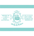 wedding vintage invitation - macaroon theme vector image vector image