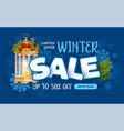 winter sale advertising banner vector image