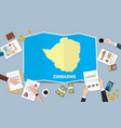 zimbabwe africa economy country growth nation vector image vector image