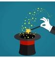 Cartoon Magicians hands holding a magic wand vector image