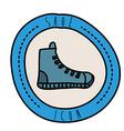 shoe design vector image